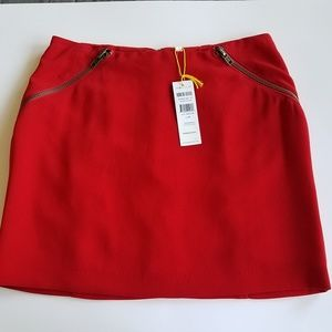 BCBGeneration Red Mini Skirt w/ pocket zipper de